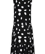 Polka Dot Sleeveless Dress, Black, original image number 2