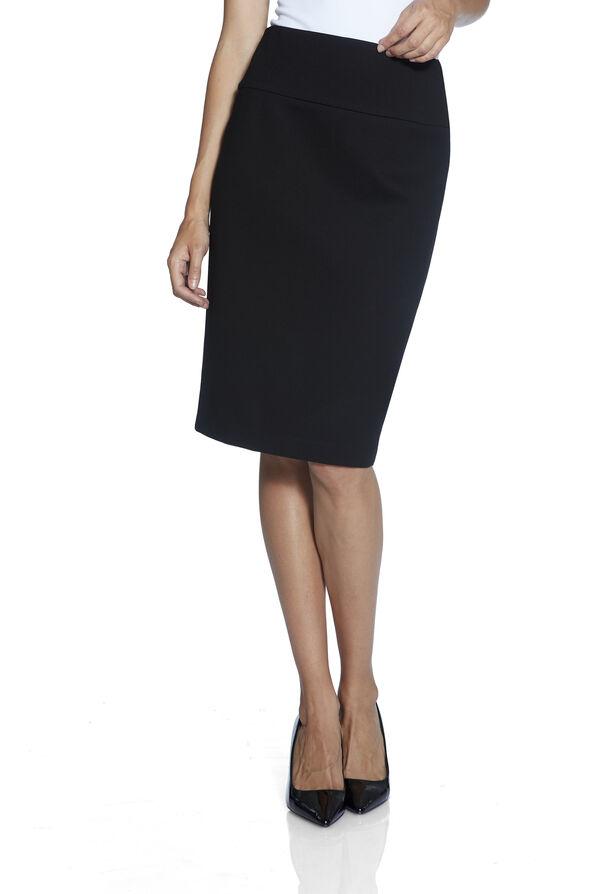 UP Ponte Knit Skirt, Black, original image number 1