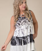 Joy Sleeveless Tunic, Black, original image number 0
