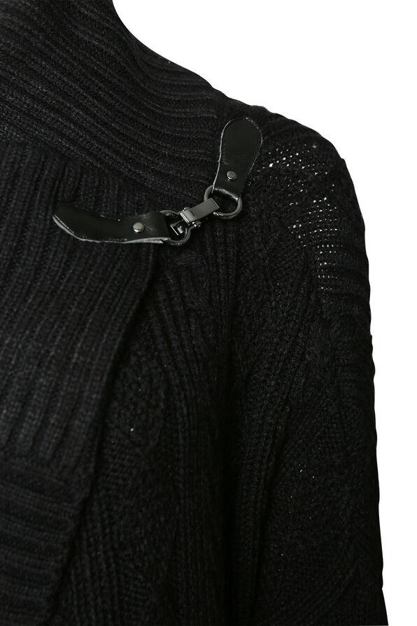 Aiden Wrap Cardigan, Black, original image number 2