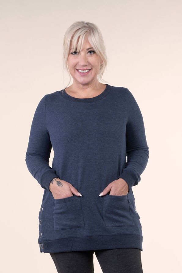 Cozy Tunic Top, Navy, original image number 0