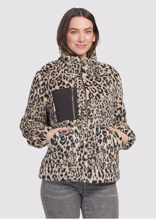 Leopard Fleece Sherpa, Tan, original
