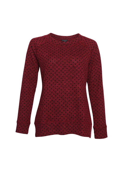 Tessa Flocked Dot Top, , original