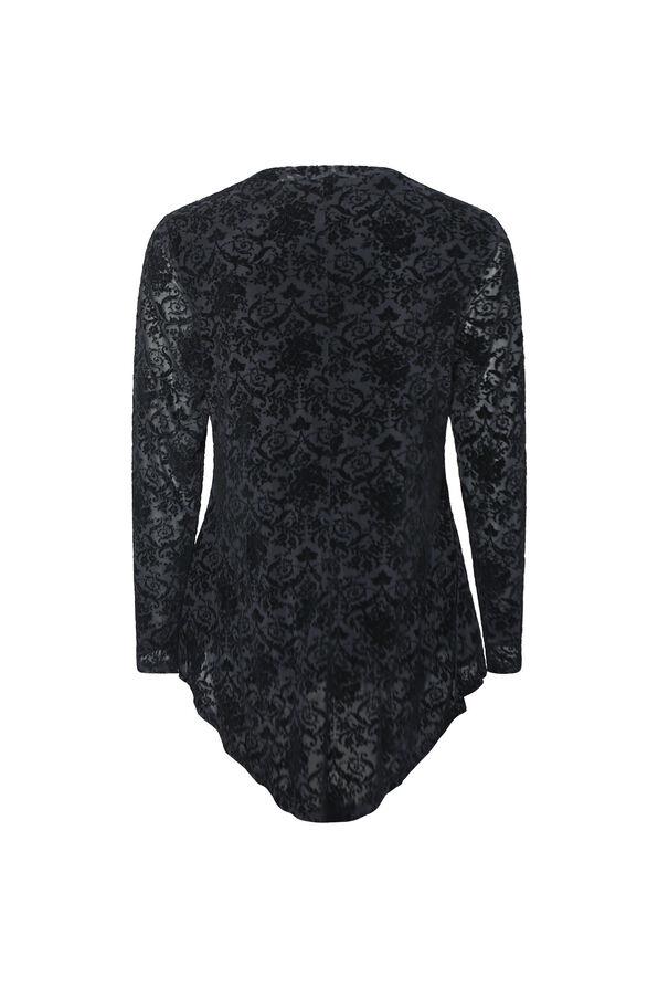 Velvet Burnout Top, Black, original image number 1