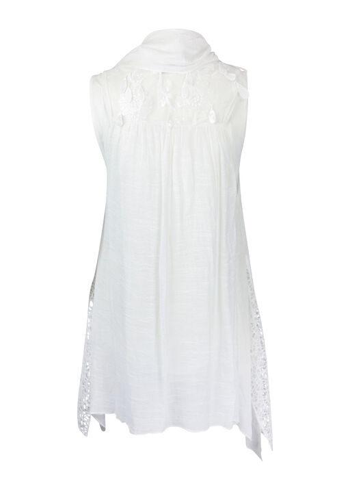 3PC Embroidered Front , White, original