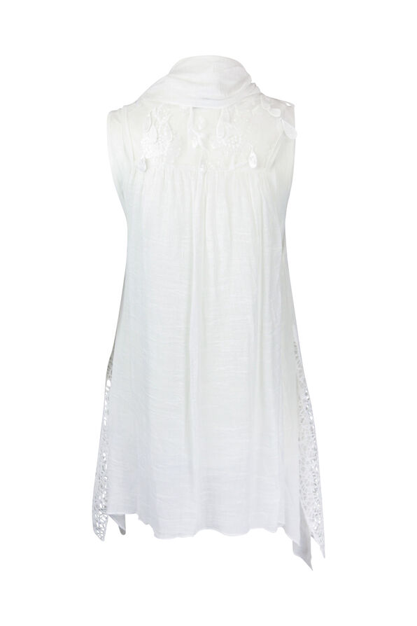 3PC Embroidered Front , White, original image number 1