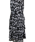 Sleeveless Lace Tiered Midi Dress, Black, original image number 1