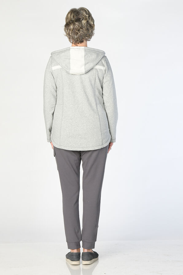Beaming Button Hoodie, Grey, original image number 4