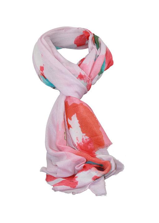 Abstract Print Rectangle Scarf, Pink, original