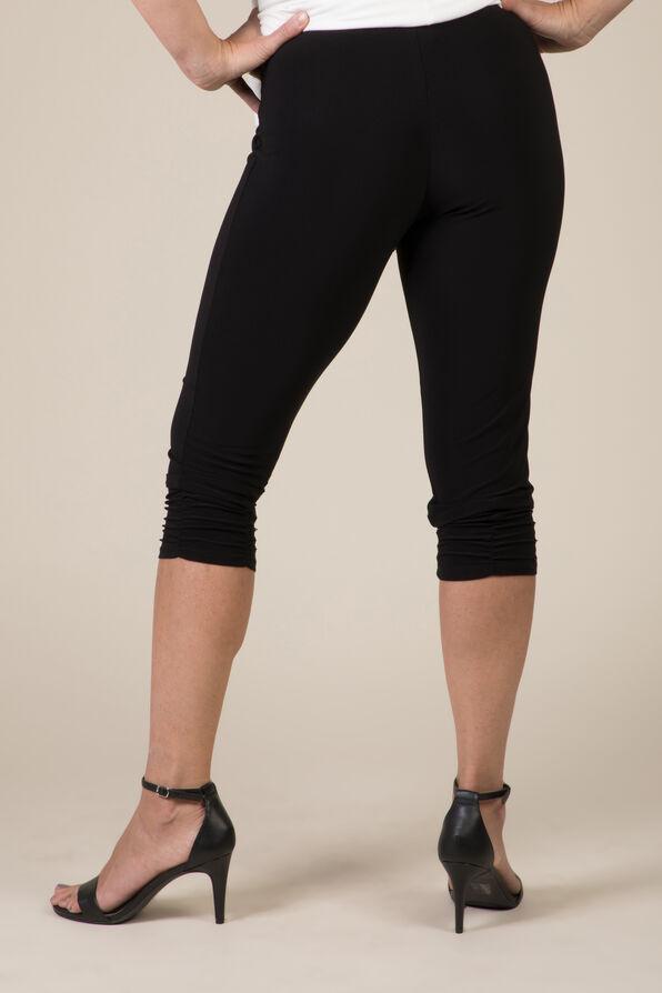 Ruched Leg Capri, Black, original image number 2