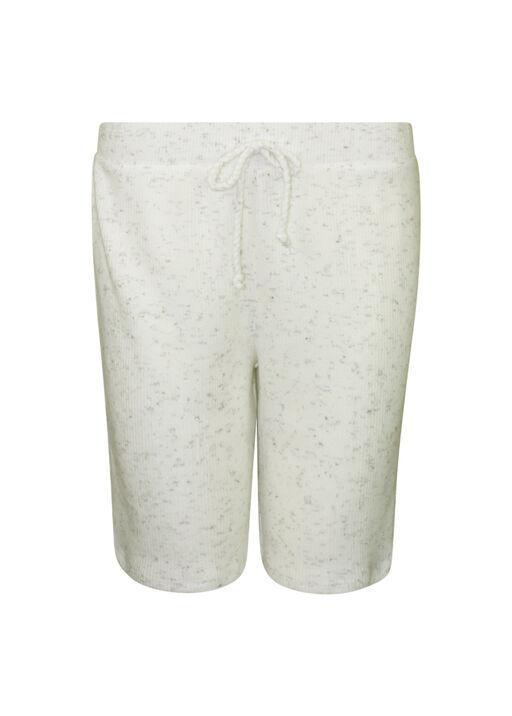 Pull-On Ribbed Knit Short , Ivory, original