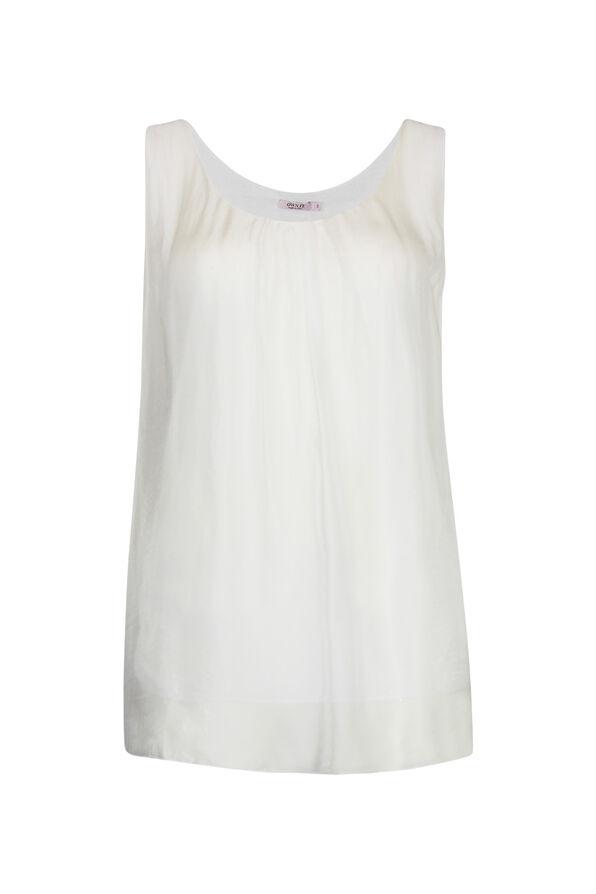 Sleeveless Silk Top , , original image number 2