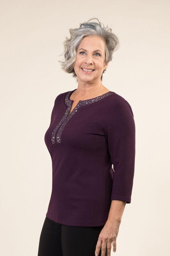 Embellished Long Sleeve Top, , original image number 1