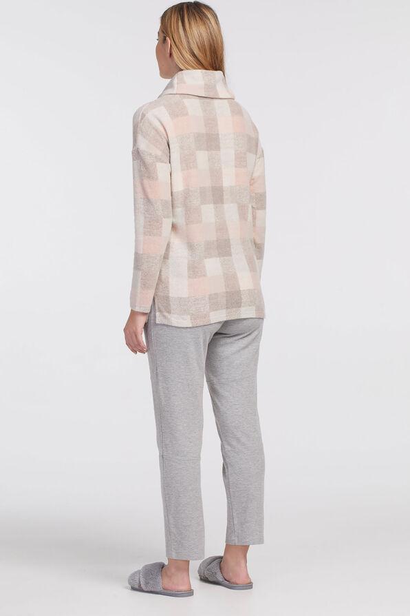 Pastel Plaid Lightweight Sweater, Pink, original image number 2