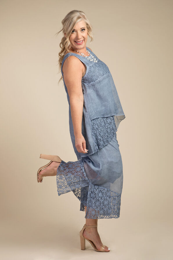 Mary Sleeveless Blouse, Denim, original image number 1