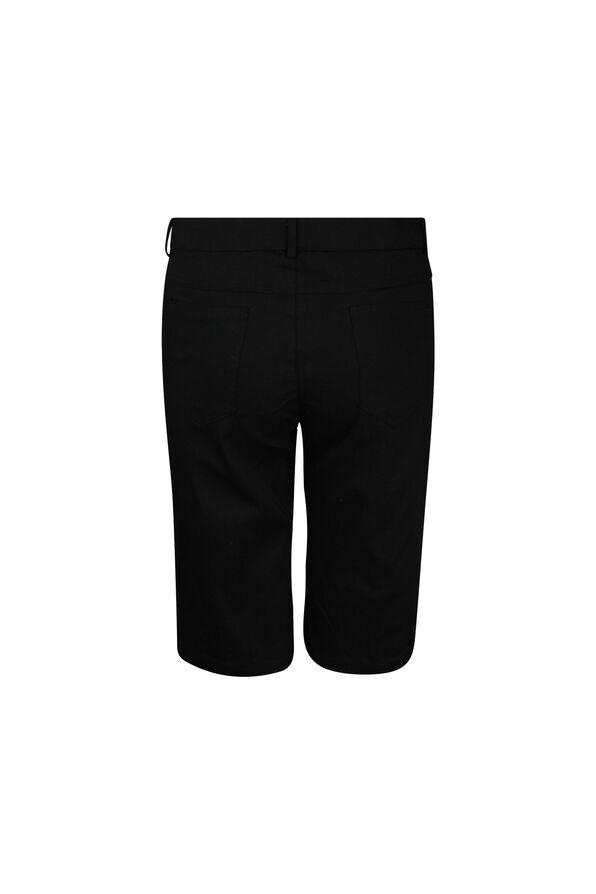 Five Pocket Cotton Stretch Bermuda Short, Black, original image number 1