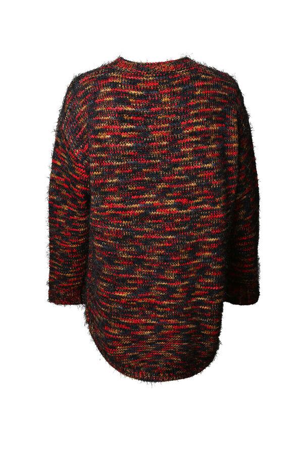 Rainbow Yarn Eyelash Sweater, Multi, original image number 1