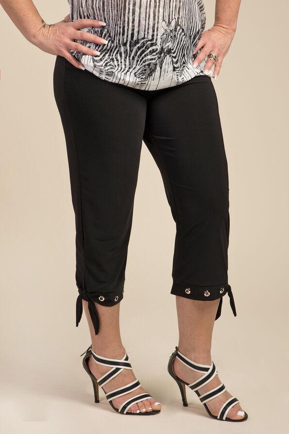 Grommet Capri Legging , Black, original image number 0