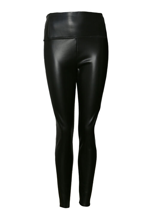 Faux Leather Legging , Black, original