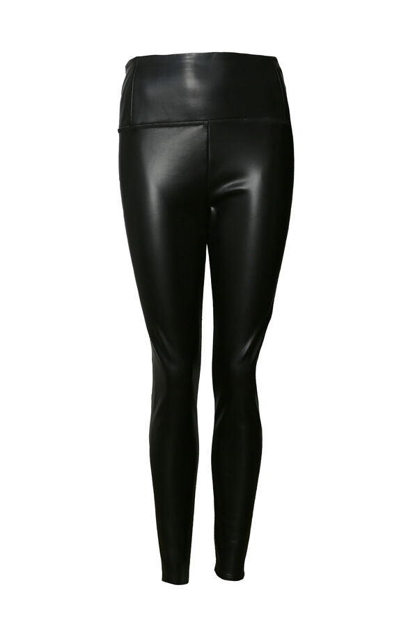 Faux Leather Legging , Black, original image number 0