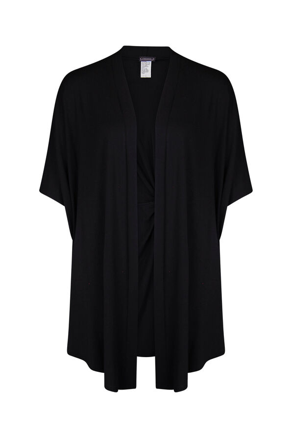 Knot back Kimono, Black, original image number 0