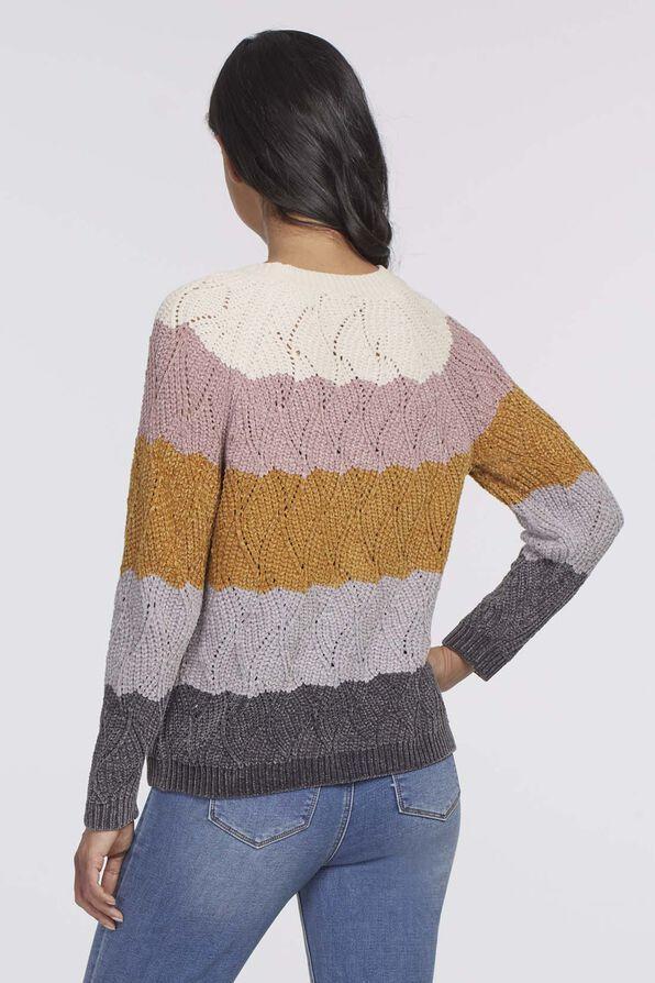 Katie Waffle Sweater, Multi, original image number 1