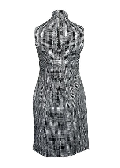 Endora Houndstooth Plaid Dress, Black, original