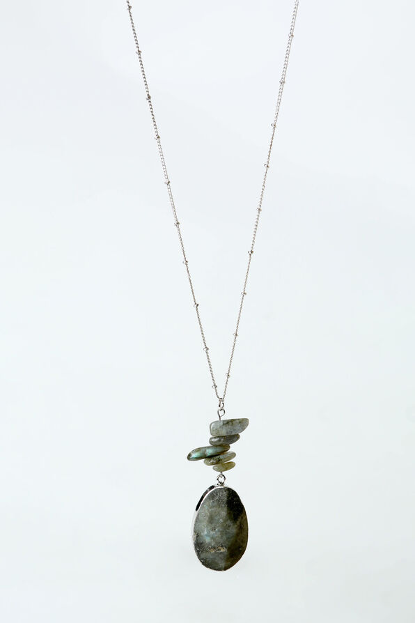 Labradorite Necklace, Grey, original image number 0