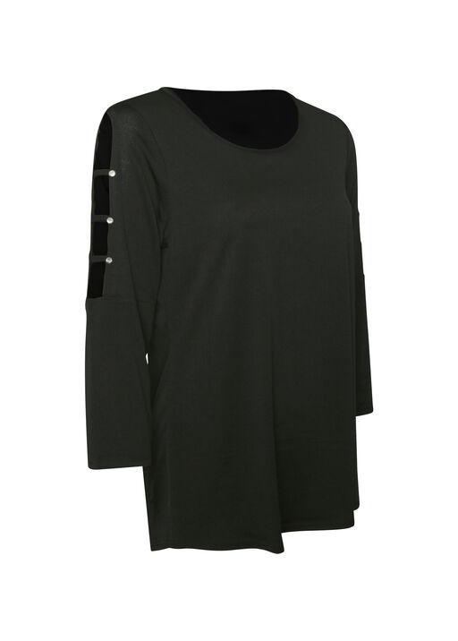 3/4 Lattice Sleeve Top, , original