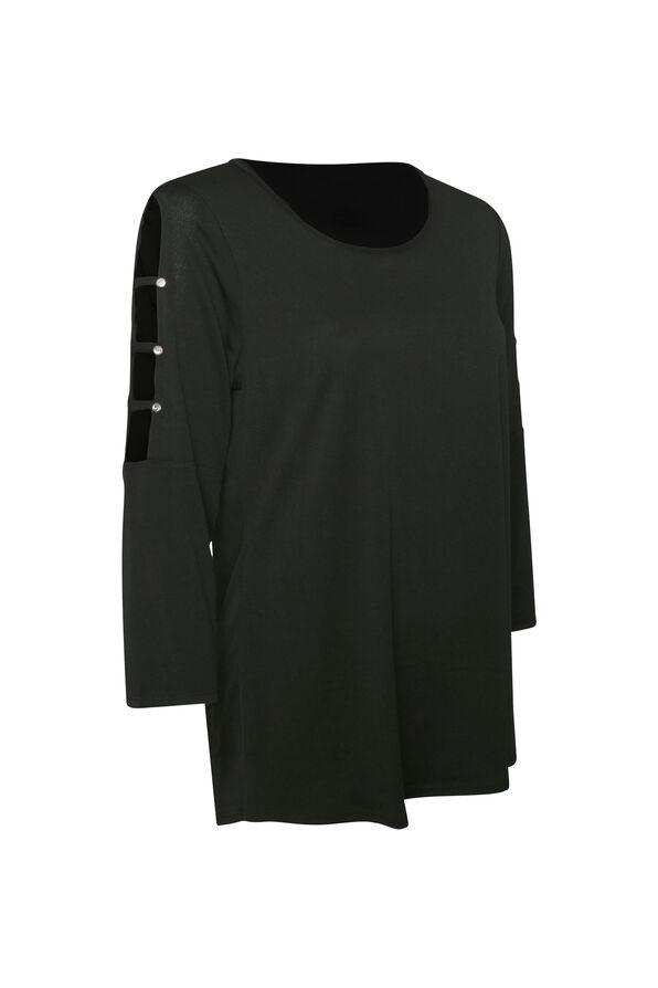 3/4 Lattice Sleeve Top, , original image number 1