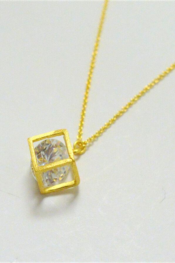 Cube Necklace, , original image number 1