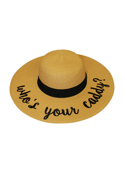 Who's Your Caddy Floppy Straw Sun Hat, Natural, original