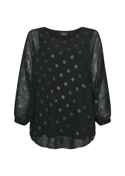 Poncho Polka Dot Blouse, , original