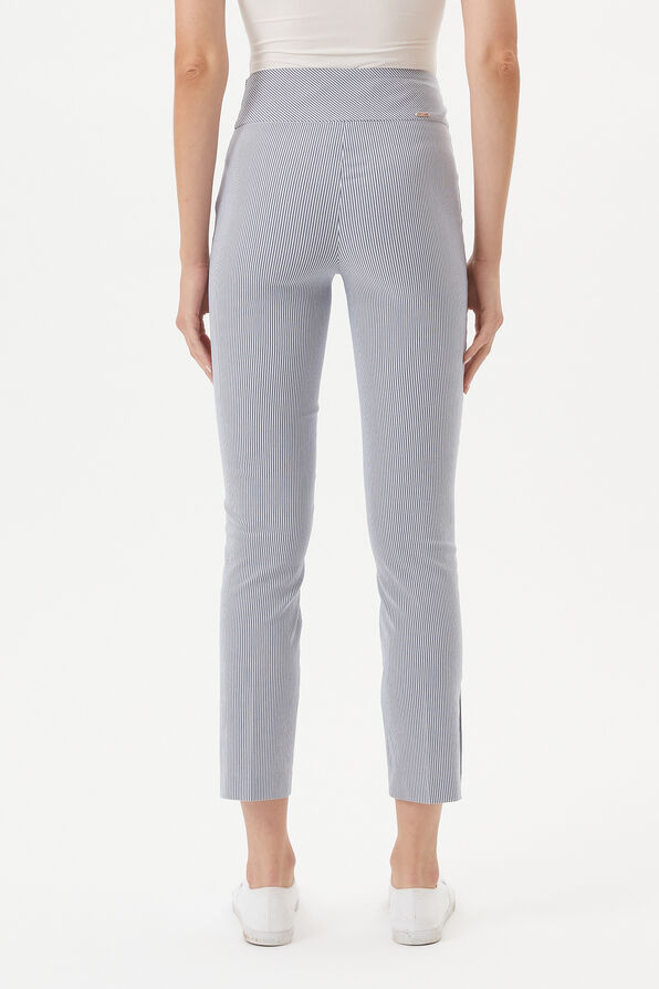 UP! Tummy Control Pin Stripe Ankle Pant, Blue, original image number 3