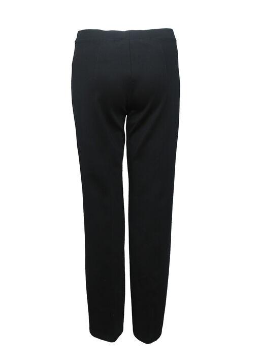 Straight Leg Pull On Stretch Pant, Black, original