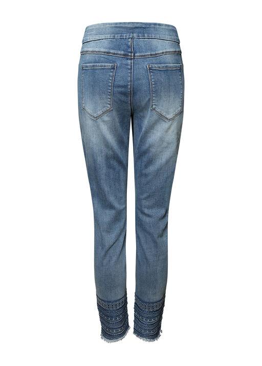 Hem Adorned Pull-On Jean, Denim, original