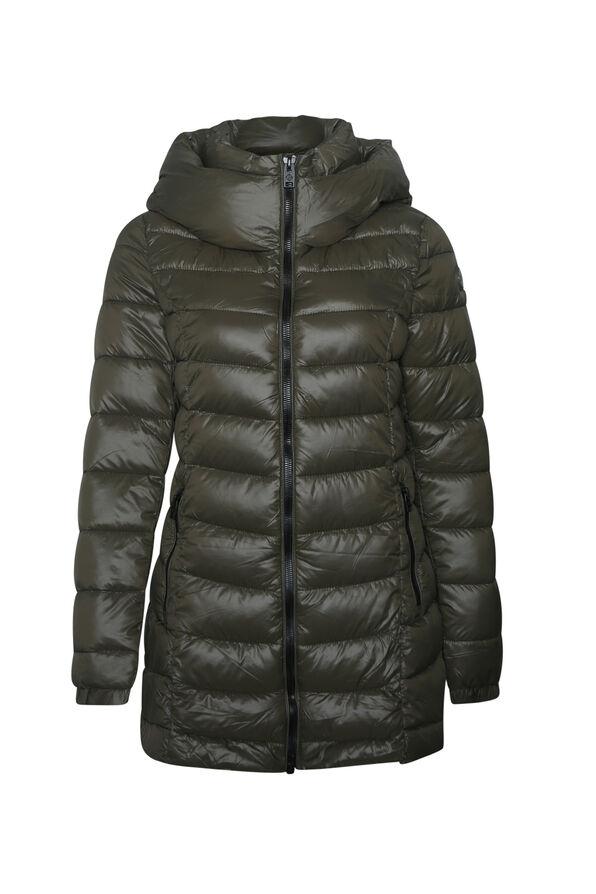 Long Mid Weight Puffer Coat , , original image number 2