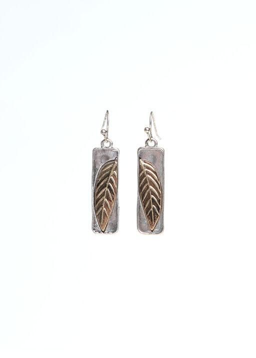 Leaf Imprinted Earrings, , original