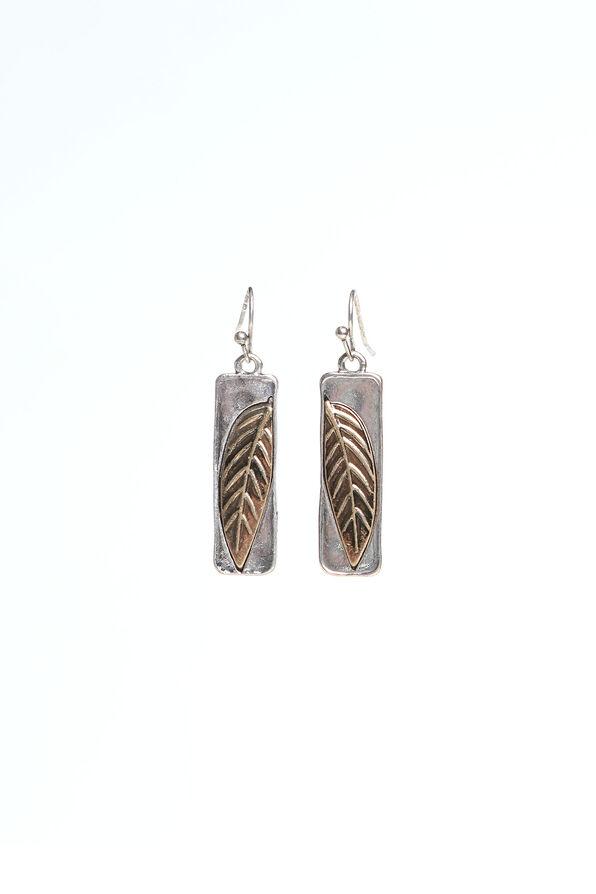 Leaf Imprinted Earrings, Multi, original image number 0