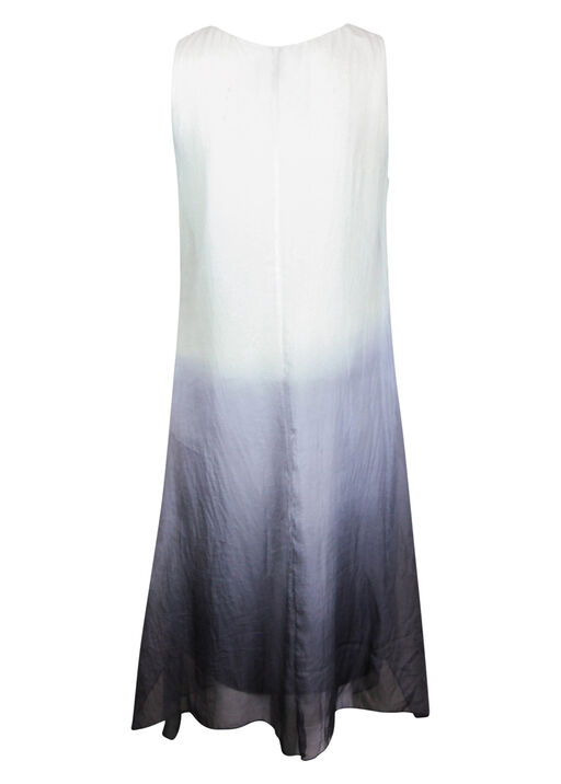 Ombre Midi Dress with Chiffon Overlay, Grey, original