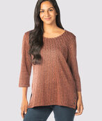 Softest-Ever Ribbed Ringlet Tunic, Rust, original image number 0