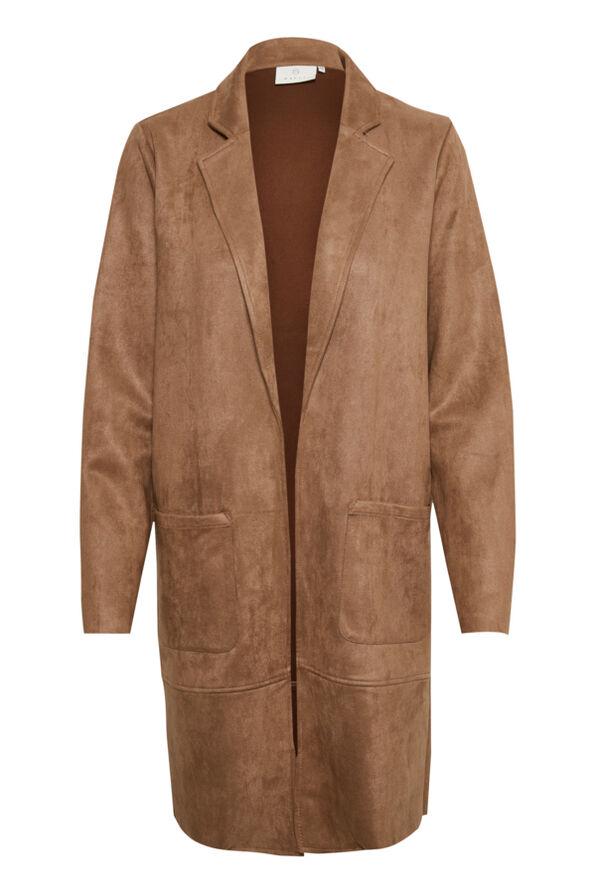 Luxor Suede Cardi-Jacket, Tan, original image number 1