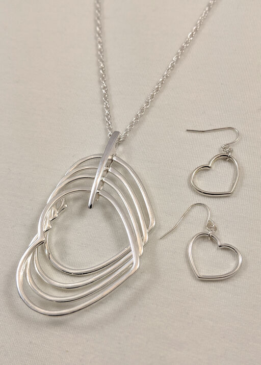 Heart Necklace and Earrings Set, , original