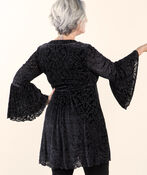 Favorite Flocked Velvet Tunic, Black, original image number 1