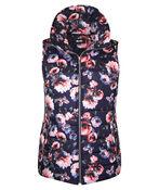 Spring Floral Puffer Vest, , original image number 0