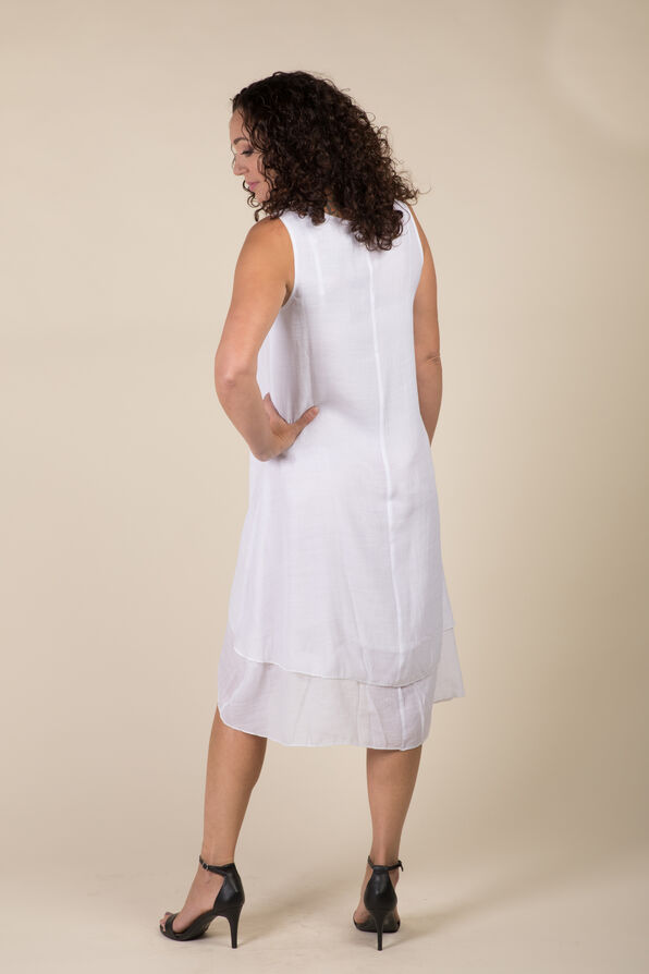 Brooke Hi Lo Dress, White, original image number 2