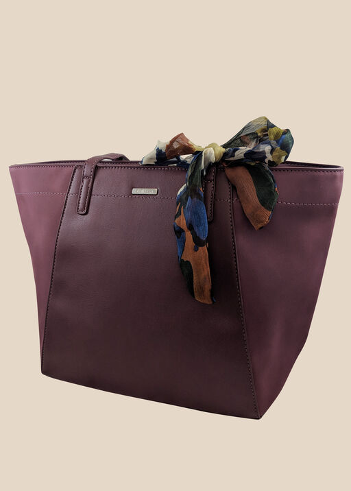 Tote with Scarf, Wine, original