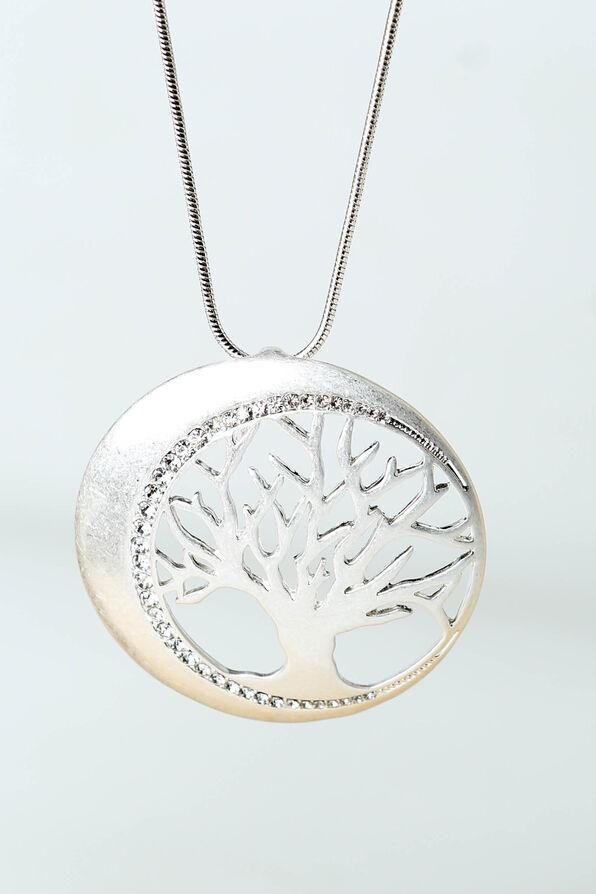 Sparkling Tree Pendant, Silver, original image number 1