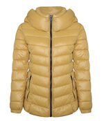 High Collar Mid Weight Hooded Puffer Coat, , original image number 2