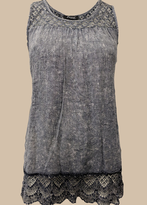 For Love and Lace Top, Denim, original
